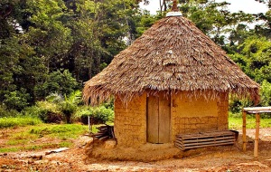 orange mud hut
