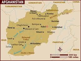 kabul afghanistan map