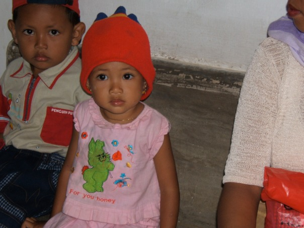 Young patients at the Blang Padang clinic in  Banda Aceh