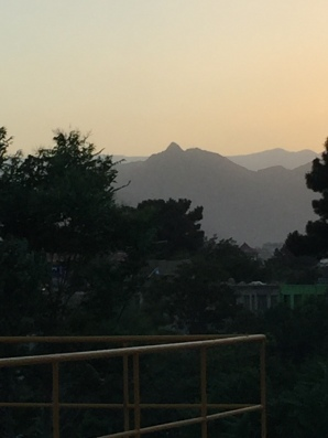 Sunset over the Hindu Kush mountains